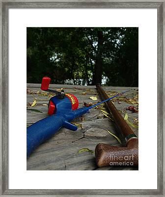 Framed Print featuring the photograph The Anglers by Peter Piatt