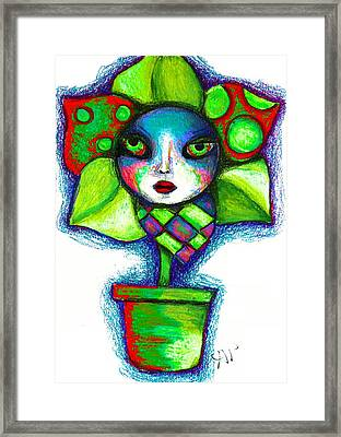 The Angrier Flower Ver 1 Framed Print by Angie Phillips