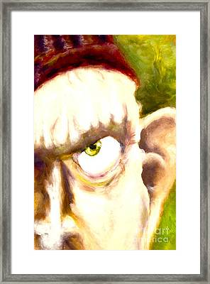 The Angry Dwarf Framed Print by Michelle Dommer