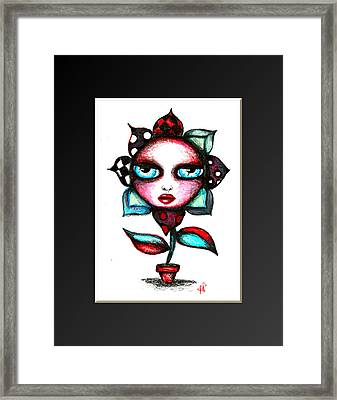 The Angry Flower Ver 2 Framed Print by Angie Phillips