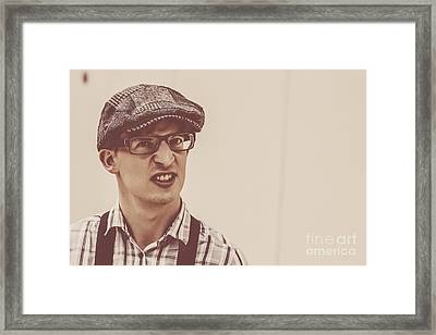 The Angry Hipster Framed Print