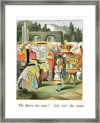 The Angry Queen. The Queen Of Hearts. Framed Print