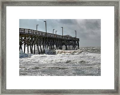 The Angry Sea Framed Print by Kathy Baccari