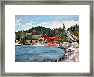 The Angry Trout Framed Print