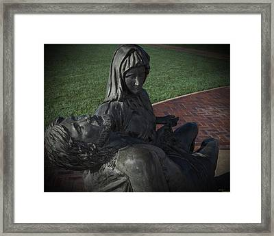 The Anguish Framed Print