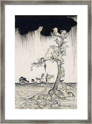 The Animals You Know Are Not As They Are Now Framed Print by Arthur Rackham