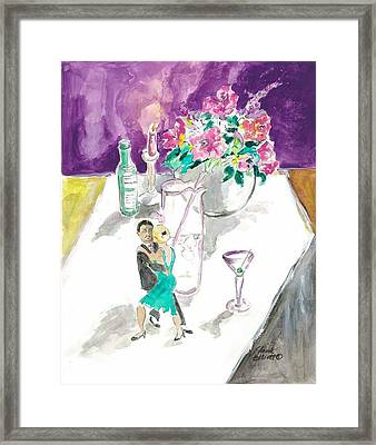 Framed Print featuring the painting The Anniversary by Elaine Elliott