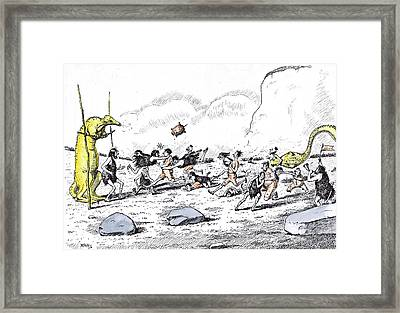 The Annual Football Match Between The Old Red Sandstone Framed Print