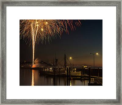 The Annual July Fourth Fireworks Framed Print by Robert L. Potts