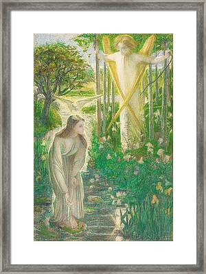 The Annunciation, 1855 Framed Print by Dante Gabriel Charles Rossetti
