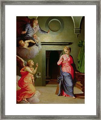The Annunciation Framed Print by Agnolo Bronzino