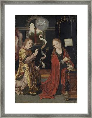 The Annunciation, Anonymous Framed Print by Litz Collection