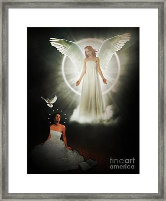 The Annunciation Framed Print by Pixl Vixl