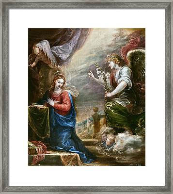 The Annunciation Framed Print by Francisco Rizi