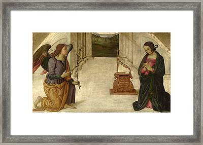 The Annunciation Framed Print by Giannicolo da Perugia