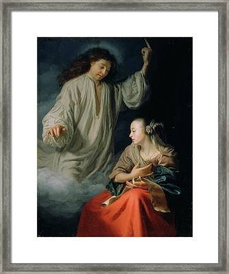 The Annunciation Godfried Schalcken, Dutch Framed Print by Litz Collection