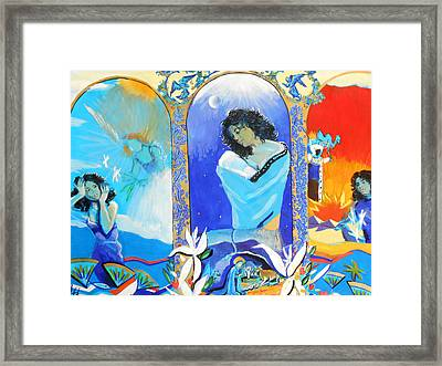 The Annunciation Framed Print by Lucia Hoogervorst