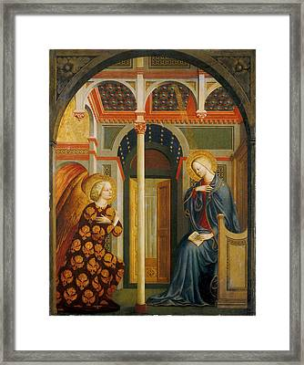 The Annunciation Framed Print by Masolino da Panicale