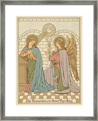 The Annunciation Of The Blessed Virgin Mary Framed Print