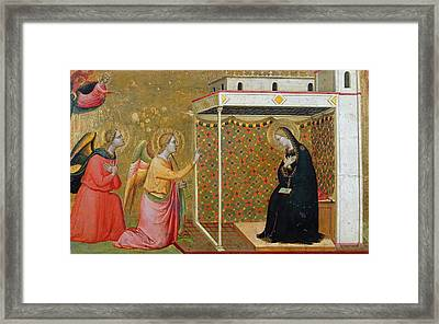 The Annunciation Oil On Panel Framed Print