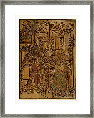 The Annunciation, Print Showing Mary Visited By An Angel Framed Print by English School