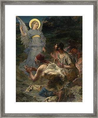 The Annunciation To The Shepherds Framed Print by Jules Bastien-Lepage