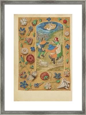 The Annunciation To The Shepherds Master Of The Dresden Framed Print by Litz Collection