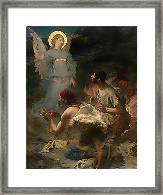 The Annunciation To The Spepherds Framed Print by Mountain Dreams