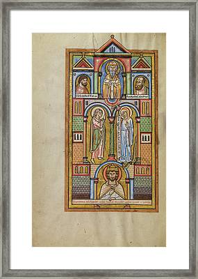 The Annunciation Unknown Hildesheim, Germany Framed Print by Litz Collection