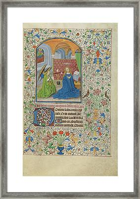 The Annunciation Willem Vrelant, Flemish, Died 1481 Framed Print by Litz Collection