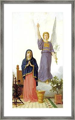 The Annunciation Framed Print by William Bouguereau