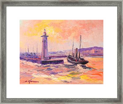 The Anstruther Harbour Framed Print by Luke Karcz
