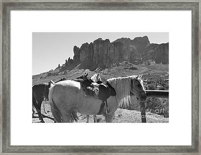 The Apache Trail  Framed Print by Beverly Guilliams