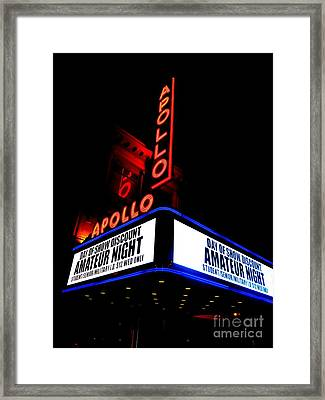 The Apollo Theater Framed Print by Ed Weidman