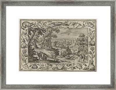 The Apostles, Adriaen Collaert, Eduwart Van Hoeswinckel Framed Print by Adriaen Collaert And Eduwart Van Hoeswinckel