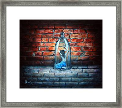 The Apothecary's Doll Framed Print by Annette Redman