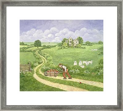 The Apple Barrow Framed Print