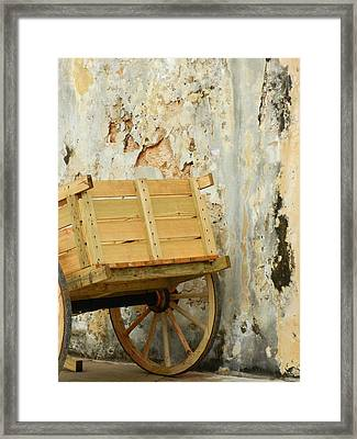 The Apple Cart Framed Print