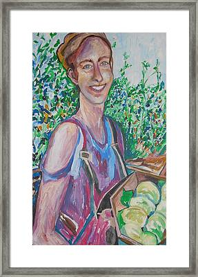 The Apple Picker Framed Print