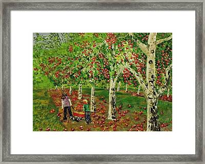 The Apple Pickers Framed Print
