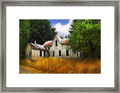 The Apple Tree On The Hill Framed Print