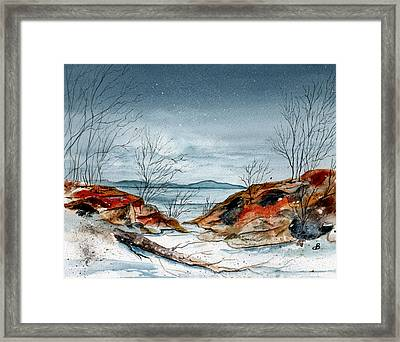 The Approaching Evening Framed Print by Brenda Owen