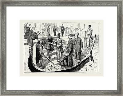 The Approaching Royal Wedding At Athens, Greece Framed Print by Litz Collection