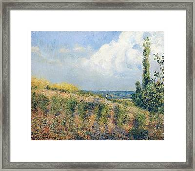 The Approaching Storm Framed Print by Camille Pissarro