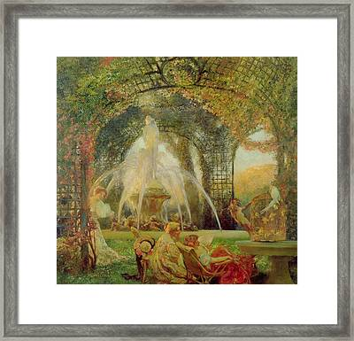 The Arbor Framed Print by Gaston De la Touche