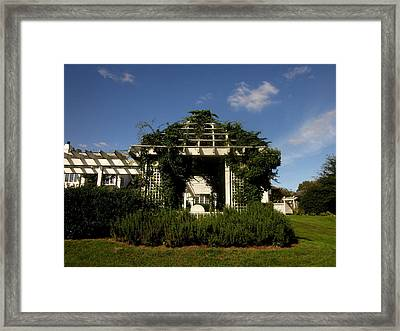The Arbor With Rosemary Framed Print by Peter LaPlaca
