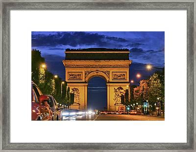 The Arc De Triomphe Framed Print