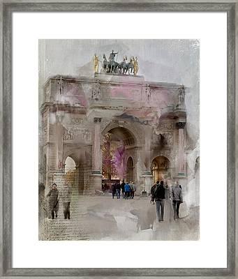 The Arc De Triomphe Du Carrousel Framed Print by Evie Carrier
