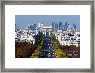The Arc De Triomphe Paris France Framed Print