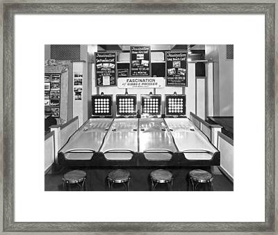 The Arcade Game Of Fascination Framed Print by Underwood Archives